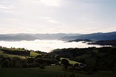在山的早晨 库存图片