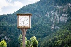 在山的时钟 时间 免版税图库摄影