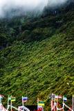 在山的村庄大量在马德拉岛的海岛的北部 图库摄影