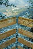在山的桥梁,亚伯大 库存图片