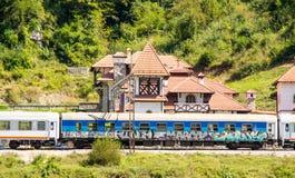 在山的火车站,黑山 库存图片