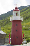 在山的灯塔 免版税库存照片
