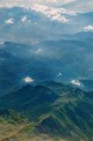 在山的看法 库存照片