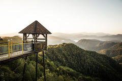 在山的眺望台 库存图片