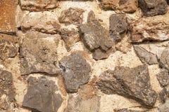 在山的石头作为backgroung 图库摄影