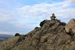 在山的石头 免版税库存图片