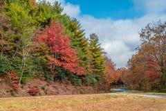 在山的秋天颜色 免版税库存照片