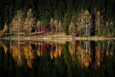 在山的秋天风景-圣阿那` s湖,罗马尼亚 免版税库存图片