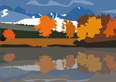 在山的秋天 免版税图库摄影
