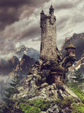 在山的童话城堡 皇族释放例证