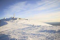 在山的美丽的景色 好的冬天山风景 库存图片