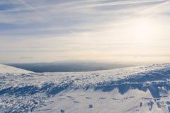 在山的美丽的景色 好的冬天山风景 库存照片
