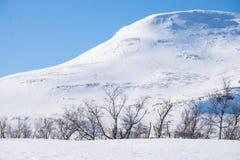 在山的完善的冬日 库存图片
