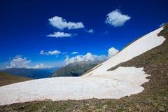 在山的美好的风景 库存图片