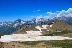 在山的美好的风景 库存照片