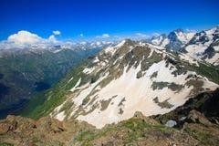 在山的美好的风景 免版税图库摄影