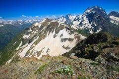 在山的美好的风景 图库摄影