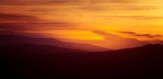 在山的美好,五颜六色的秋天日出在挪威 库存图片