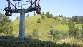 在山的老缆车 股票视频