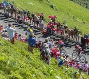 在山的脱离-环法自行车赛2016年 库存图片