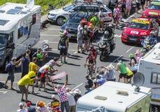 在山的脱离-环法自行车赛2016年 图库摄影
