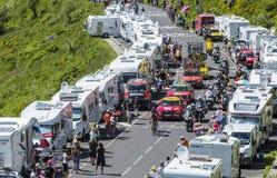 在山的脱离-环法自行车赛2016年 免版税库存图片