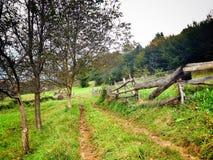 在山的自然风景 图库摄影