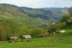 在山的自然风景 库存照片