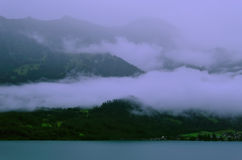 在山的薄雾 免版税库存照片