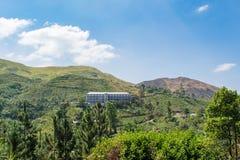 在山的豪宅在斯里兰卡 免版税库存照片
