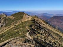 在山的足迹-秋季 库存图片