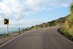 在山的路视图 免版税库存照片