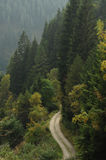 在山的运输路线 免版税图库摄影