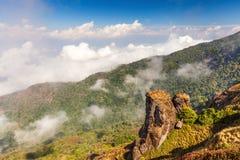 在山的顶视图在一个最普遍的旅游国家公园中泰国,土井inthanon 库存照片