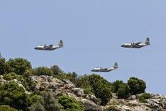 在山的飞行 免版税库存照片