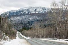 在山的高速公路 免版税图库摄影