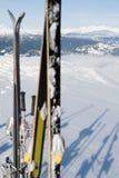 在山的滑雪 库存图片