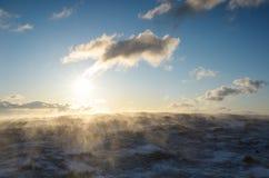 在山的暴风雪 免版税图库摄影