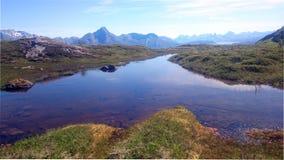 在山的水 免版税库存照片