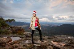 在山的Boho圣诞节 库存图片