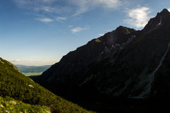 在山的chata,斯洛伐克欧洲 免版税库存图片
