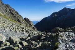 在山的chata,斯洛伐克欧洲 免版税图库摄影