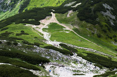 在山的chata,斯洛伐克欧洲 图库摄影
