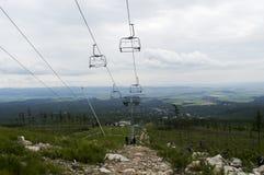 在山的chata,斯洛伐克欧洲 免版税库存照片