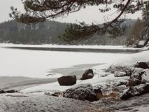 在山盖的小湖 库存照片