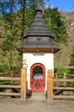 在山行迹的寺庙 免版税库存图片