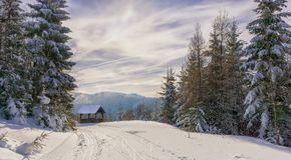 在山行迹附近的木凉亭 免版税图库摄影