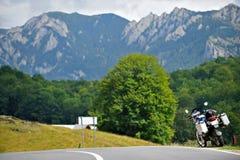在山路的BMW 库存图片