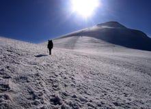 在山顶附近的阿勒山挂接 图库摄影