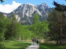 在山风景的散步 图库摄影